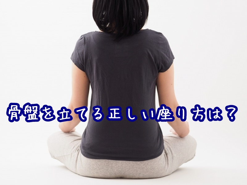 骨盤を立てる正しい座り方