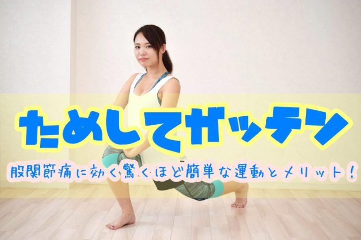 ためしてガッテンの股関節痛に効く運動