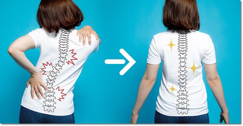 背中の固さを改善した女性
