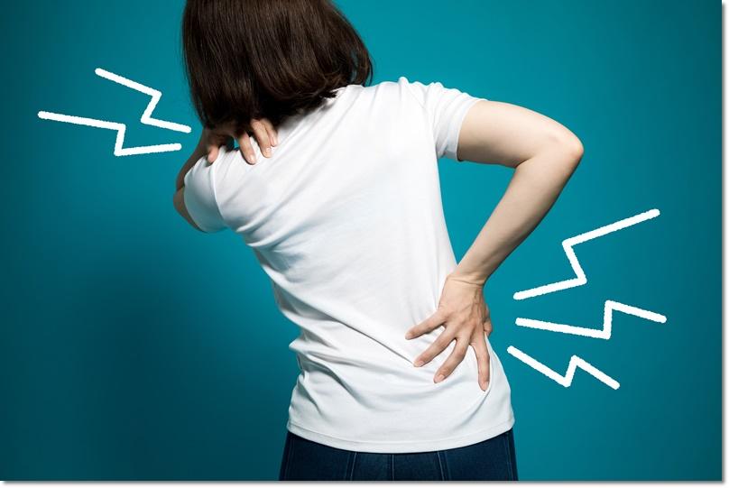 背中の後ろで手が組めない・背中が固い・体が硬い女性