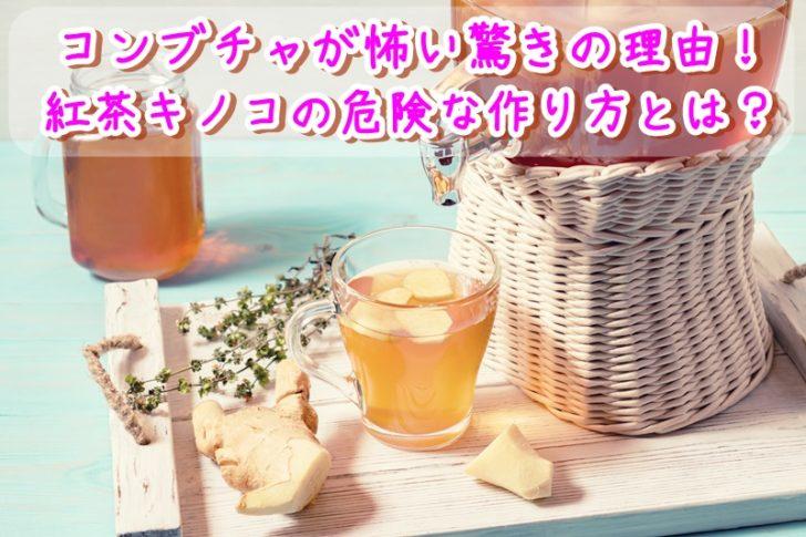 コンブチャが怖い驚きの理由!紅茶キノコの危険な作り方とは?