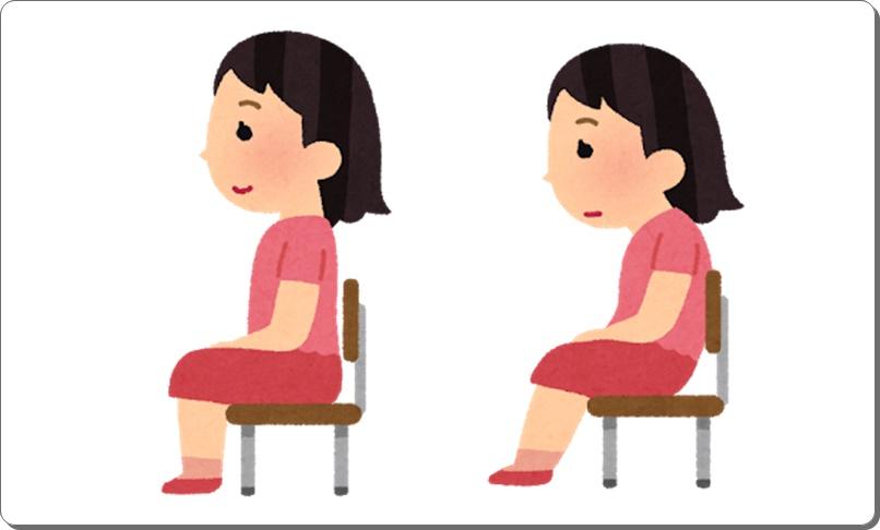 座骨の位置と座り方