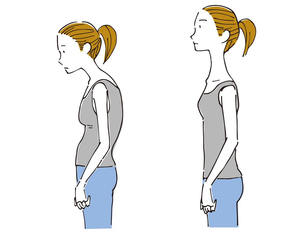太ってないのに二重あごになる原因「姿勢」