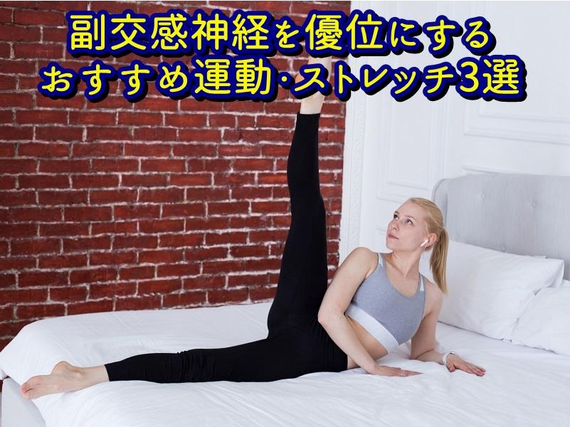 副交感神経を優位にするおすすめ運動・ストレッチ3選